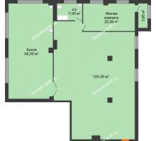 1 комнатная квартира 220,8 м², ЖК ROLE CLEF - планировка
