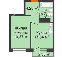 1 комнатная квартира 30,56 м² в ЖК Первая Линия. Гавань, дом № 2.4 - планировка