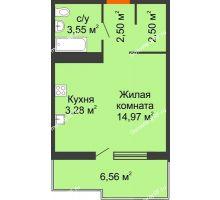 Студия 33 м² в ЖК Все свои, дом Литер 5 - планировка