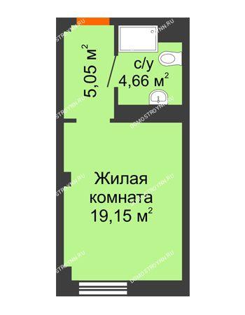 Студия 28,86 м² - Апарт-Отель Гордеевка
