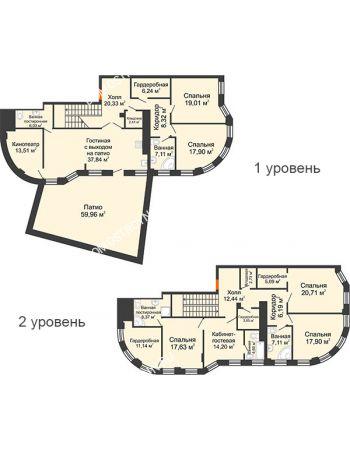 6 комнатная квартира 287,8 м² в ЖК Плотничный, дом № 2