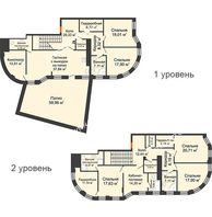 6 комнатная квартира 287,8 м² в ЖК Плотничный, дом № 2 - планировка