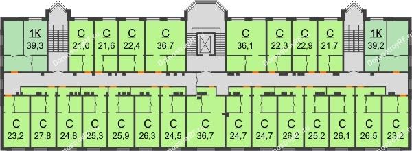 ЖК Красный дом - планировка 4 этажа