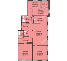 5 комнатная квартира 236,6 м², ЖК Богатяновский - планировка