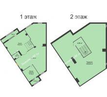 1 комнатная квартира 220,6 м², ЖК ROLE CLEF - планировка