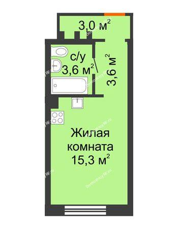 Студия 25,5 м² - ЖК Красный дом
