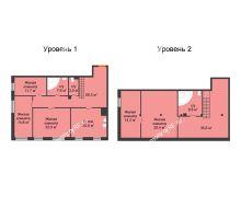 4 комнатная квартира 181,7 м², Клубный дом Green Вита (Грин Вита) - планировка