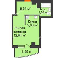 Студия 30,5 м² в ЖК Нива, дом №37 - планировка