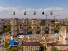 Ход строительства дома Литер 1 в ЖК Звезда Столицы - фото 17, Май 2020