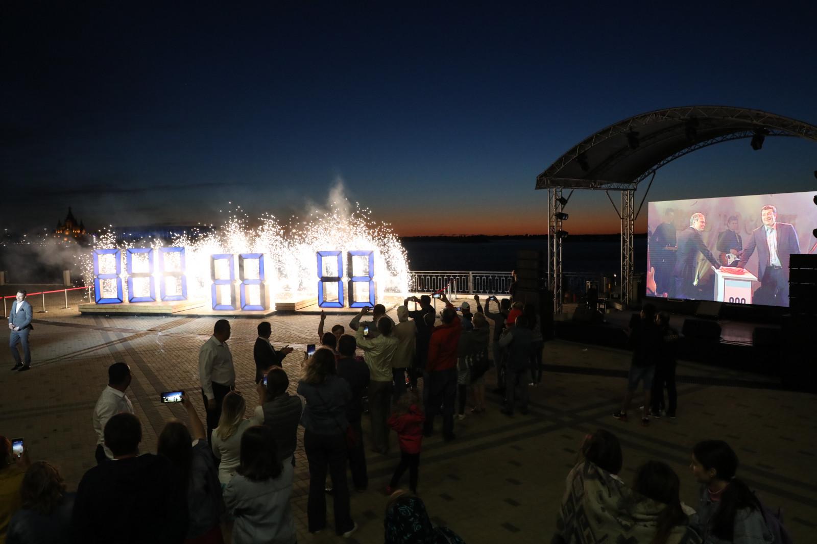 Часы с обратным отсчетом времени до начала празднования 800-летия запущены в Нижнем Новгороде