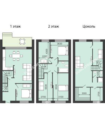 8 комнатная квартира 194 м² в  КП Долина, дом № 18 (194 м2)