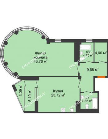 1 комнатная квартира 93,43 м² в ЖК Renaissance (Ренессанс), дом № 1