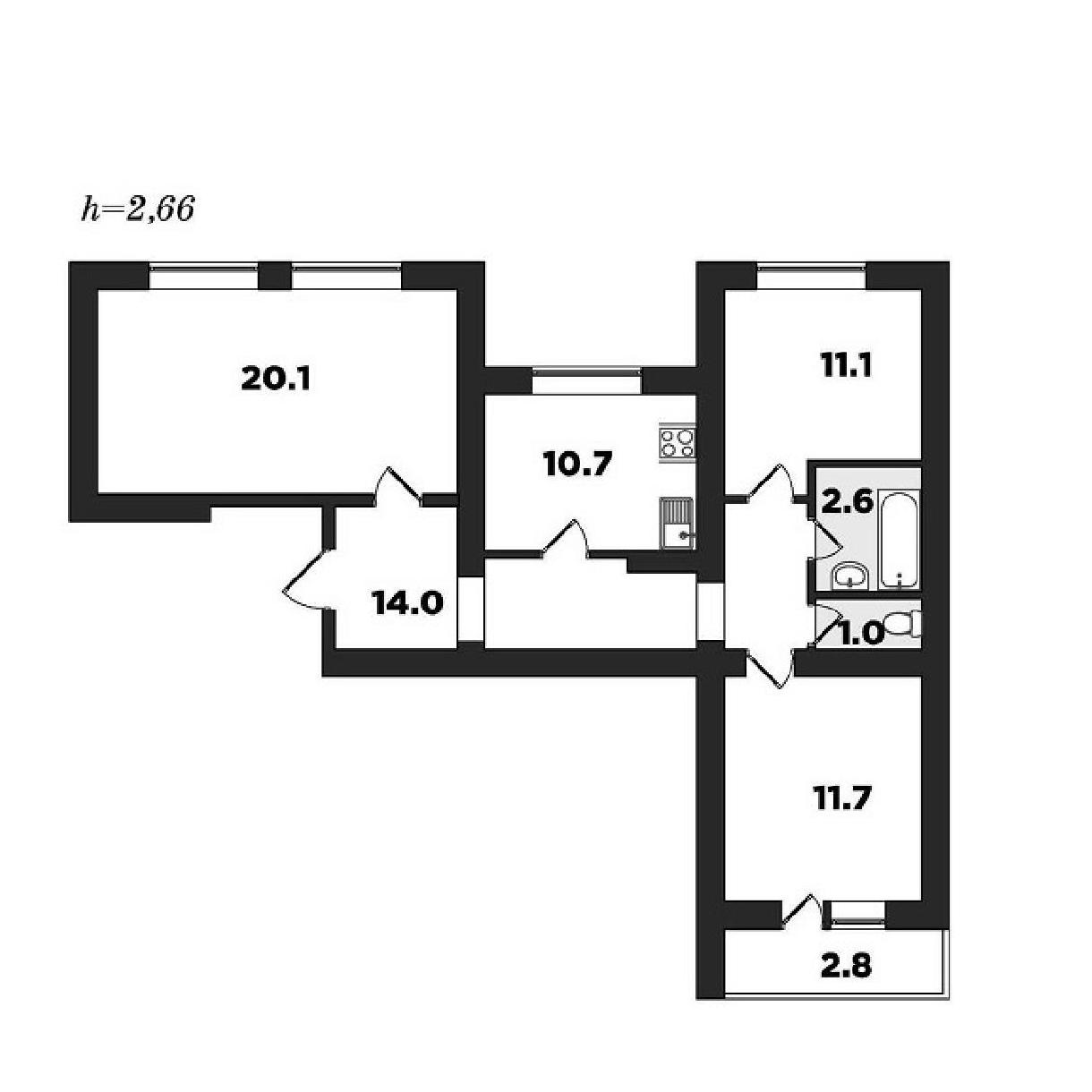 Топ-10 неудачных планировок квартир в новостройках - фото 5