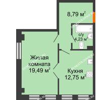1 комнатная квартира 45,26 м² в ЖК Дом на Провиантской, дом № 12
