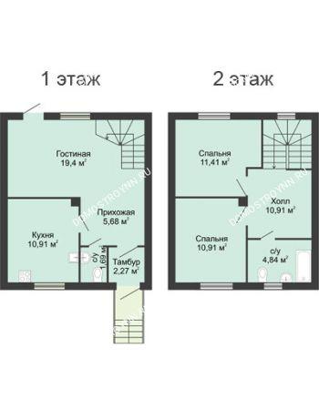 3 комнатная квартира 75 м² в КП Ждановский, дом № 8