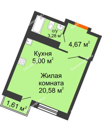 Студия 29,22 м² в ЖК Мечников, дом ул. Мечникова, 37