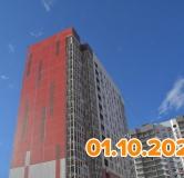 Ход строительства дома Артамонова 22л, 1 этап в ЖК Лазурный -
