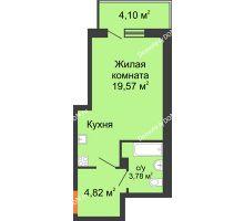Студия 29,9 м², ЖК Дом на 14-й Линии - планировка