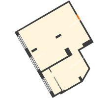 2 комнатная квартира 73,2 м² в ЖК АТЛАНТ СИТИ, дом №1 - планировка