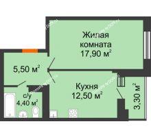 1 комнатная квартира 40,3 м² в ЖК Вересаево, дом Литер 5/1