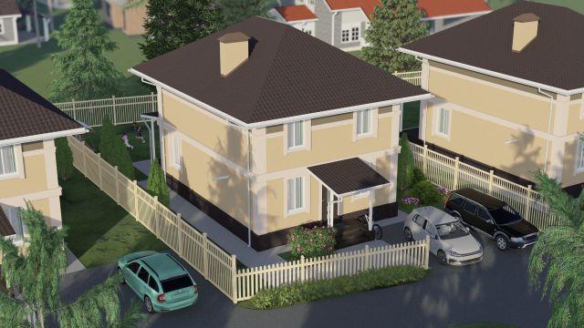 Дом № 44 по ул. Восточная (136 м2)  в КП Фроловский - фото 2
