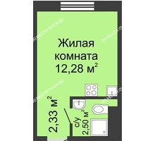 Студия 17,11 м² в ЖК Бурнаковский, дом № 38 - планировка