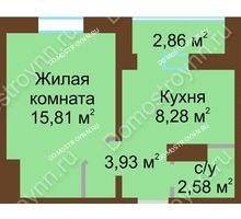1 комнатная квартира 32,03 м² в ЖК Мончегория, дом № 1