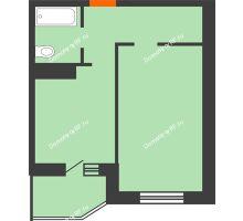 1 комнатная квартира 39 м² в ЖК Ромашково, дом Позиция 2 - планировка